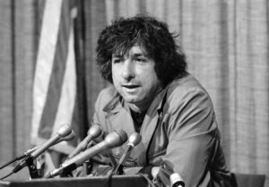 FILE - In this Dec. 6, 1973 file photo, political activist Tom Hayden, husband of Jane Fonda, tells newsmen in Los Angeles that he believes public support was partially responsible for the decision not to send him and others of the Chicago 7 to jail for contempt. Hayden, the famed 1960s anti-war activist who moved beyond his notoriety as a Chicago 8 defendant to become a California legislator, author and lecturer, has died at age 76. His wife, Barbara Williams, says Hayden died on Sunday, Oct. 23, 2016, in Santa Monica of a long illness. (ANSA/AP Photo/George Brich, File) [CopyrightNotice: Copyright 2016 The Associated Press. All rights reserved.]
