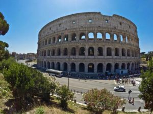 A general view of the Colosseum after the first stage of the restoration work was completed in Rome, Tuesday, June 28, 2016. The Colosseum has emerged more imposing than ever after its most extensive restoration, a multi-million-euro cleaning to remove a dreary, undignified patina of soot and grime from the ancient arena, assailed by pollution in traffic-clogged Rome. The restorations first stage was officially unveiled on Friday, July, 1st, 2016. (ANSA/AP Photo/Fanuel Morelli) [CopyrightNotice: Copyright 2016 The Associated Press. All rights reserved. This material may not be published, broadcast, rewritten or redistribu]