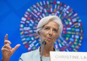 International Monetary Fund (IMF) Managing Director Christine Lagarde speaks at a news conference at the IMF Headquarters in Washington, DC, USA, 08 October 2016. The 2016 Annual meetings of the International Monetary Fund and World Bank Group take place 7-9 October.  ANSA/MICHAEL REYNOLDS