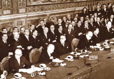 Sessantesimo anniversario del 'Trattato di Roma' il prossimo  25 marzo