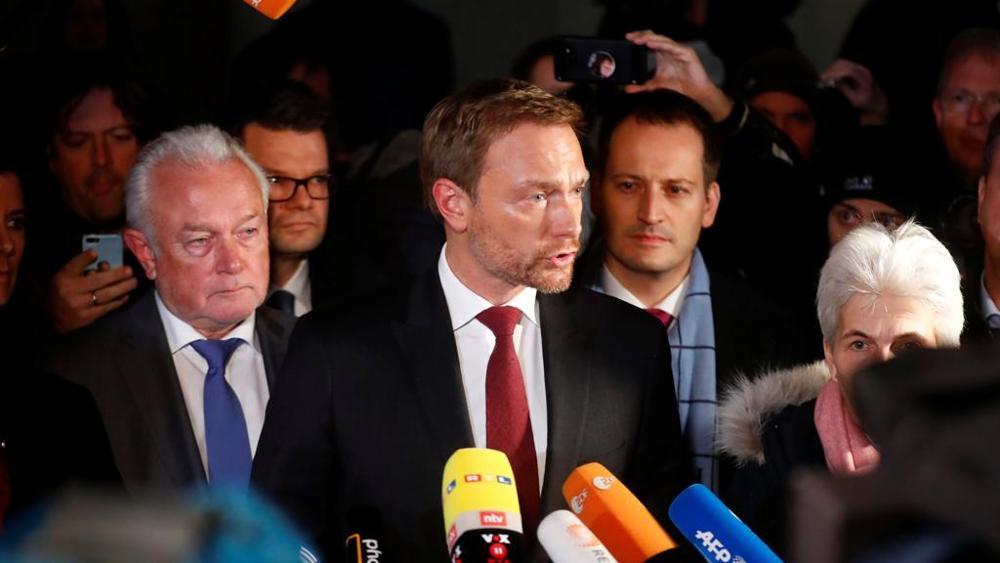 Germania e Lindner: salta il tavolo 'Giamaica'