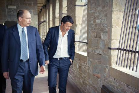 Matteo Renzi e Enrico Letta