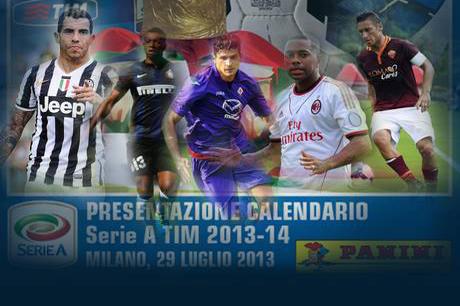 Serie A Tim 2013-2014, presentazione del calendario (foto fonte Ansa)