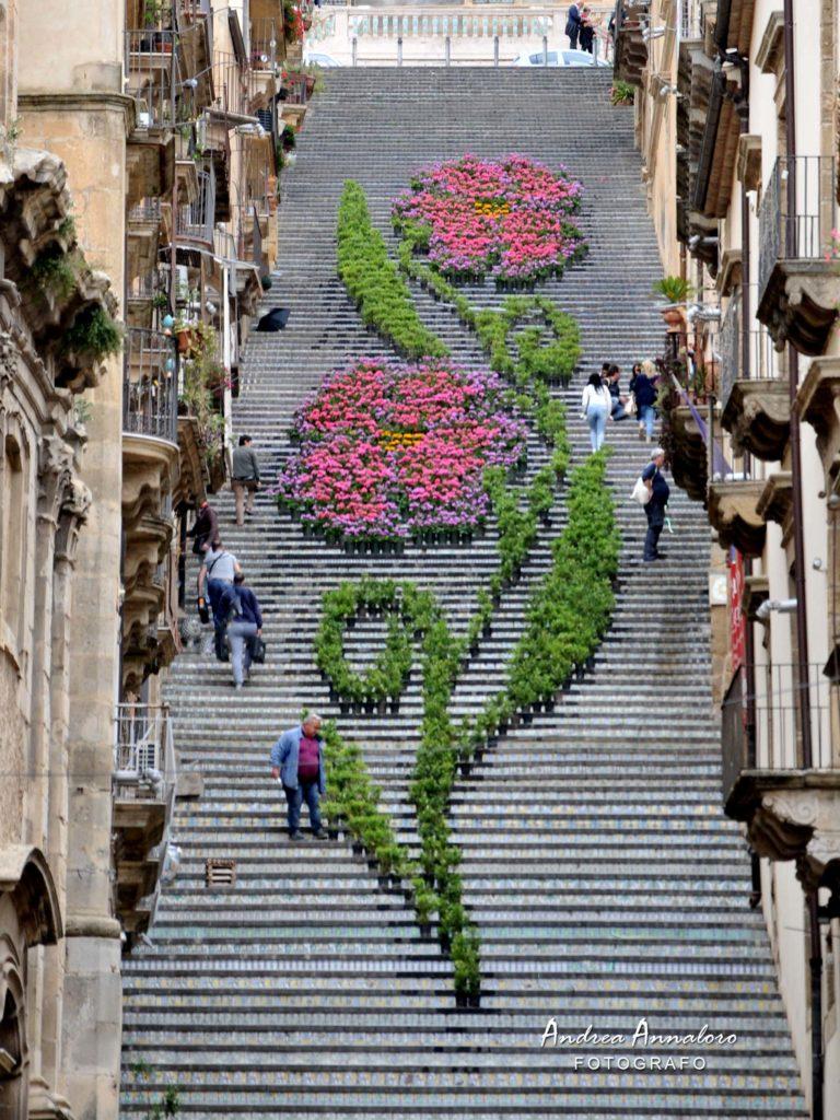 Caltagirone lo spettacolo della scala infiorata progettoitalianews - Giardini di bacco caltagirone ...
