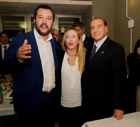 Centrodestra, vertice Salvini, Berlusconi e Meloni