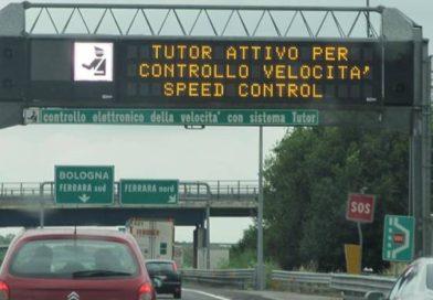 Nuovo tutor in autostrada dal 27 luglio