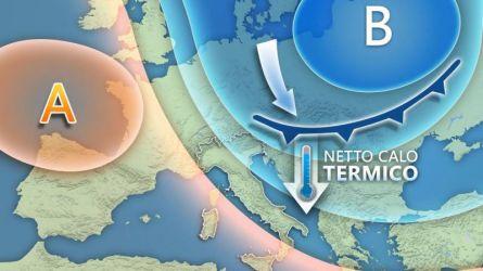 Meteo  Italia: Rapido fronte freddo in settimana, temperature in calo