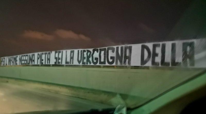 Cucchi: a Brindisi indagini su striscione contro Tedesco