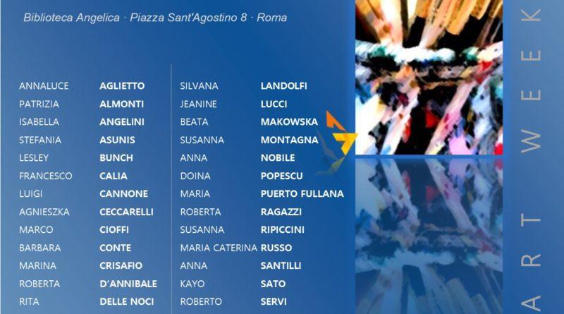 Sabato 20 ottobre,   ore 18,   mostra collettiva di arte contemporanea 'Art Workers', Galleria della Biblioteca Angelica, Roma