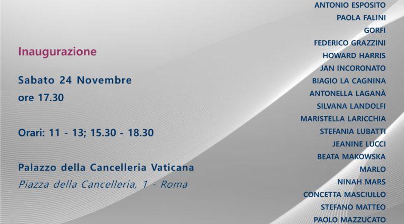 Sabato 24 novembre,   ore 17,30,   mostra collettiva di arte contemporanea   'Stay on Art' presso il Palazzo della Cancelleria Vaticana