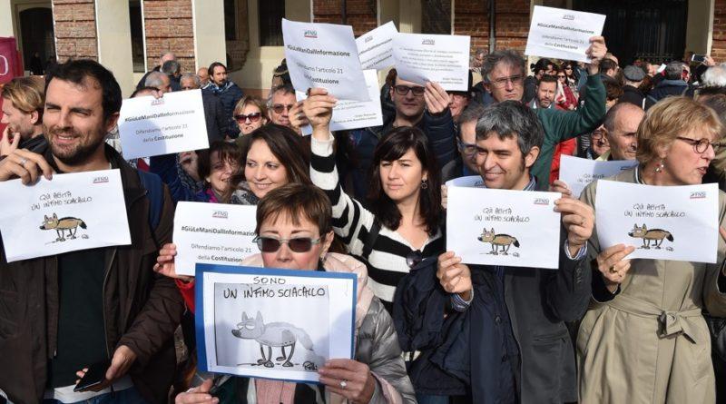 Libertà di stampa: giornalisti in piazza contro le accuse dei 5Stelle
