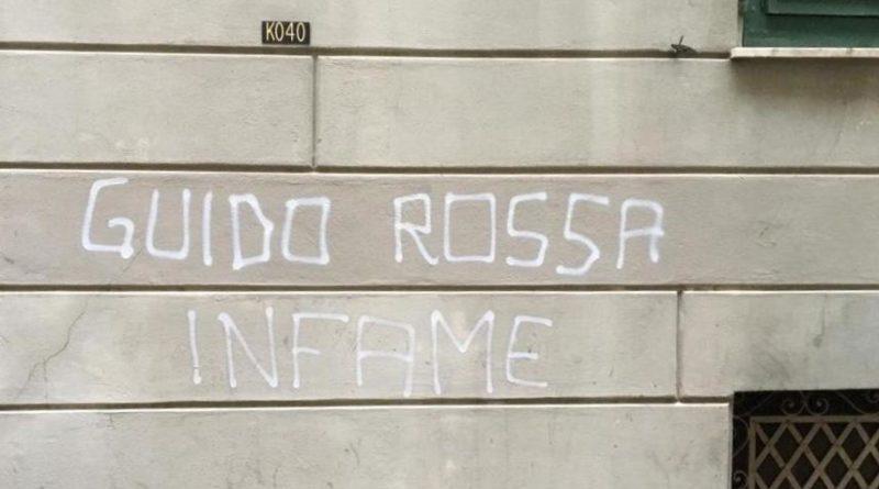 """""""Guido Rossa infame"""", scritta choc a Genova. Mattarella: Ha pagato per difendere la Repubblica"""