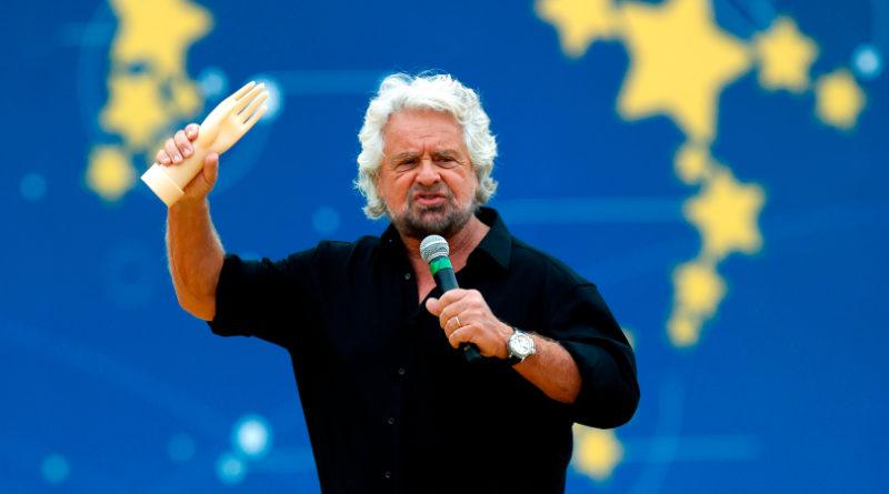 Beppe Grillo  comico contestato anche a Roma