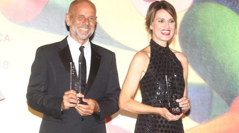 Cannes, 'Premio Kinéo',  22 maggio, Giancarlo Giannini e Lina Wertmüller