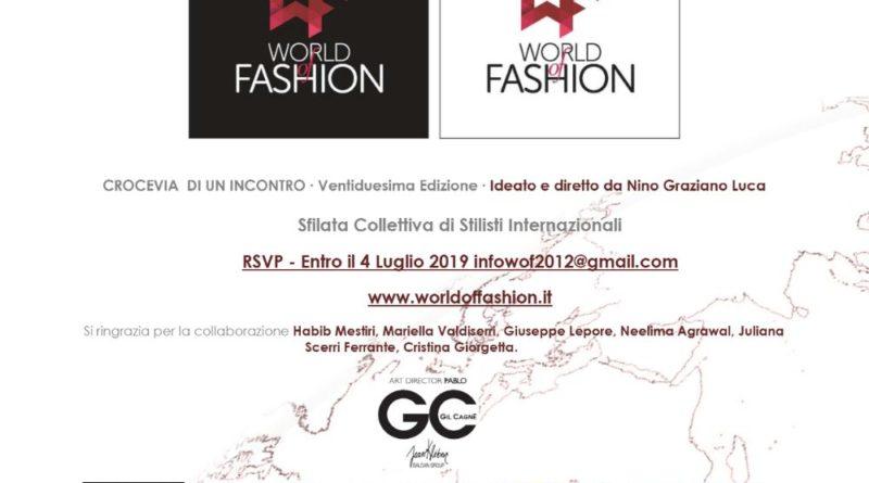 Arriva la 22^ edizione del World of Fashion il 7 luglio ore 18:00 a Palazzo Brancaccio. Tra gli ospiti Placido Domingo Jr.