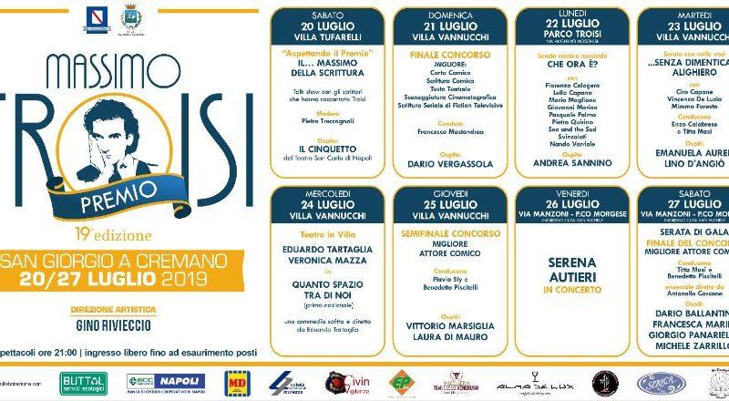 PREMIO TROISI – San Giorgio a Cremano 20-27 luglio