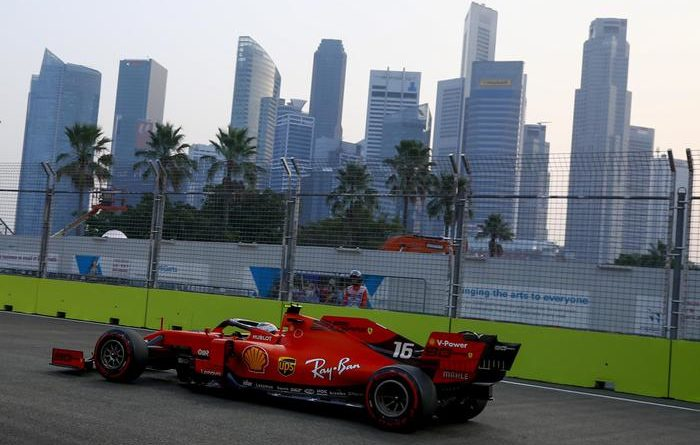 F1. Gp di Singapore: terza pole di fila per Leclerc