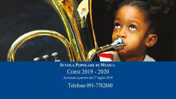 Aperte le iscrizione ai corsi del nuovo Anno Accademico 2019/2020: della Scuola Popolare di Musica del Brass. Una grande festa di musica all'open day il 25 settembre dalle ore 16.00 alle 20.00