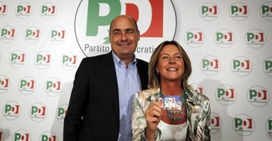 Zingaretti consegna la tessera Pd alla Lorenzin: 'Centinaia di iscrizioni in tutta Italia'