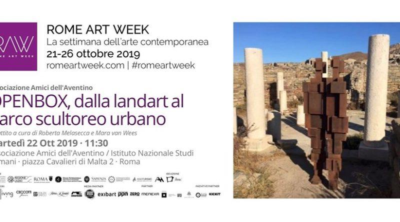 Dibattito OpenBox: dalla land art al parco scultoreo urbano,   oggi dalle ore 11:30 alle 13:30, Istituto Nazionale di Studi Romani onlus