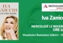 """Iva Zanicchi presenta e firma le copie di """"Nata di luna buona"""",  organizzato da Mondadori Bookstore,  13 novembre, dalle ore 18:30 alle 20:00,   Velletri, Via Pia 9,"""