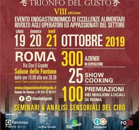 SIMPOSIO, Trionfo del Gusto. 300 espositori a Roma per l'ottava edizione della kermesse