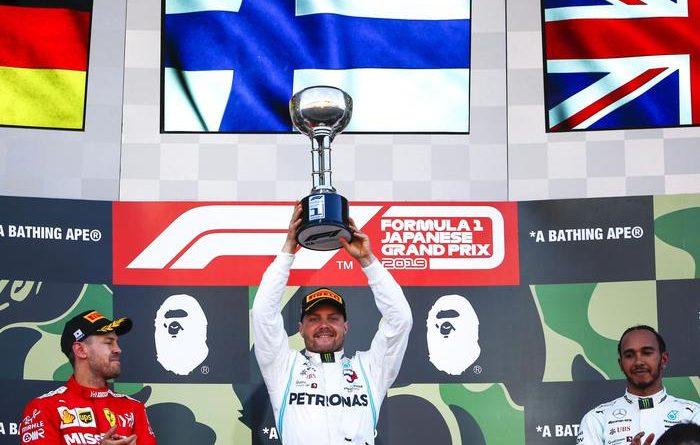 F1 Giappone. Vince Bottas, Mercedes ancora campione. Disastro Ferrari