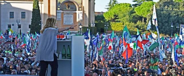 Meloni: Salvini ora è leader del centrodestra? Sì, se prende più voti