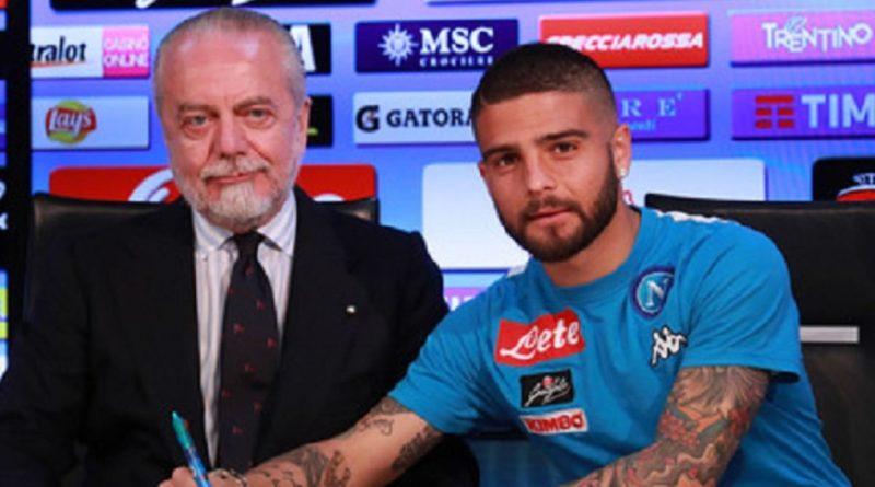 """Napoli, De Laurentiis a Insigne """"Decida cosa vuole fare da grande"""""""