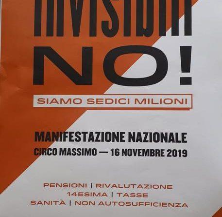 A Roma la manifestazione dei pensionati 'Invisibili no'