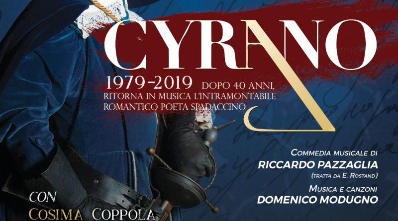 Il Cyrano di Pazzaglia e Modugno ritorna in scena dopo 40 anni, debutto nazionale: dal  6 al 15 dicembre al teatro Augusteo di Napoli