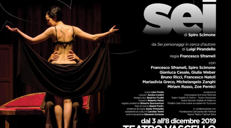 SEI Compagnia Scimone Sframeli dal 3 all'8 dicembre 2019 Teatro Vascello, Roma