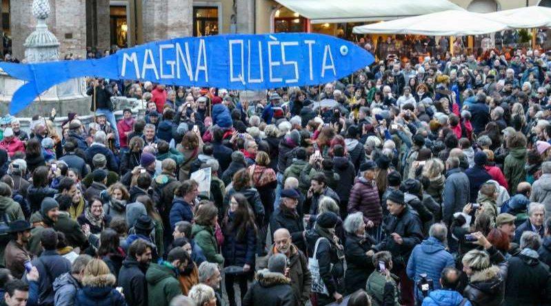 La Sardine oggi a Roma. Sfida alla politica, no ai simboli di partito