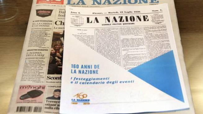 La Nazione ha 160 anni: si brinda a Firenze