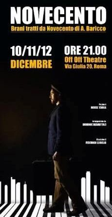 Dal 10 al 12 dicembre 'Novecent  all'Off/Off Theatre di Roma