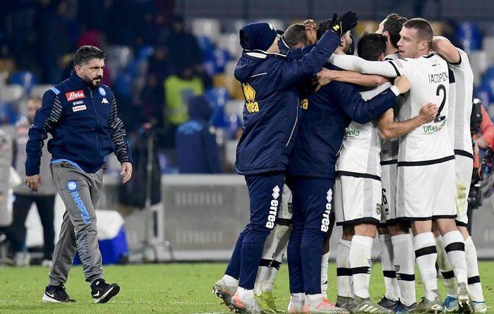 Gattuso, esordio amaro. Napoli battuto 2-1 dal Parma