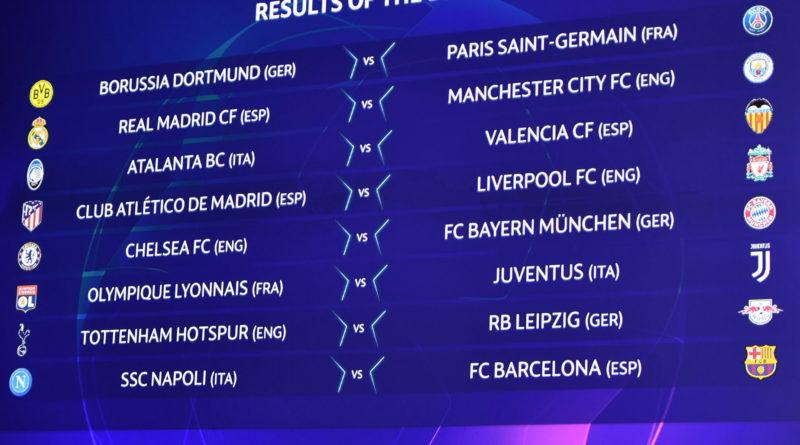 Champions. Sorteggio Ottavi: Lione-Juve, Napoli-Barcellona e Atalanta-Valencia