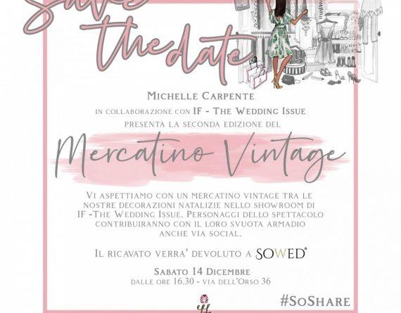 14 dicembre ore 16:30 Michelle Carpente inaugura la II edizione del Mercatino di beneficenza