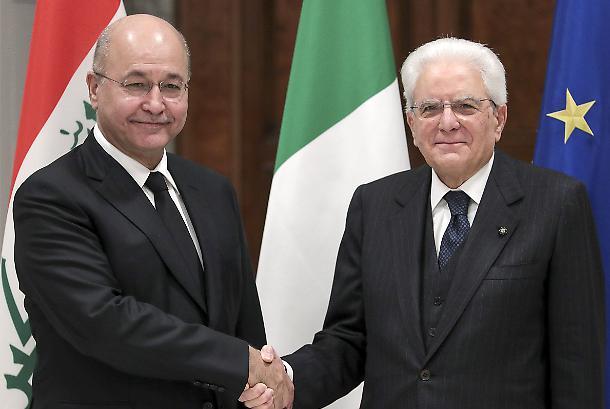 Mattarella riceve al Quirinale il presidente dell'Iraq
