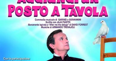 Al Teatro Augusteo di Napoli 'Aggiungi un posto a tavola', con Gianluca Guidi dal 31 gennaio al 9 febbraio