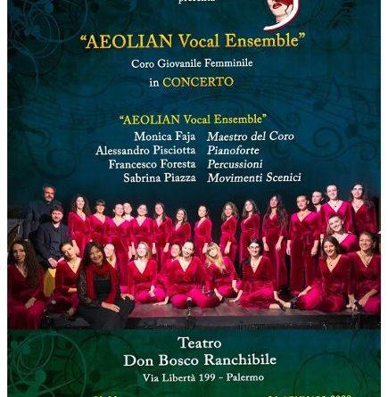 """L'AEOLIAN Vocal Ensemble in scena con lo spettacolo """"Dal Suono al Gesto"""". Domenica 26 gennaio ore 18.30 – Teatro Don Bosco Ranchibile – via Libertà n.199"""
