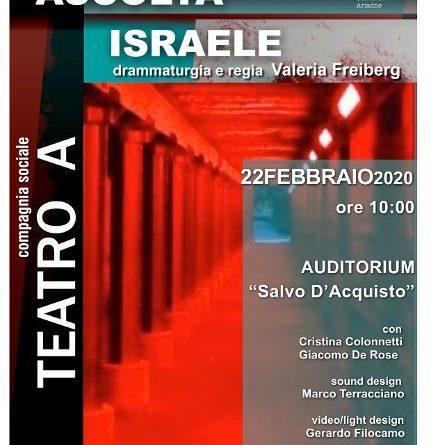 ASCOLTA, ISRAELE – Replica straordinaria 22 febbraio