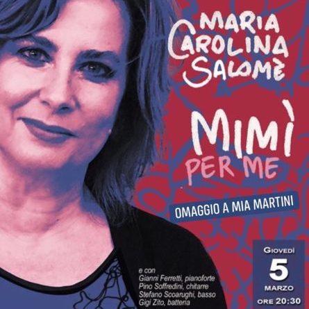 'MIMI' PER ME'- Omaggio a Mia Martini,  scritto e diretto da Maria Carolina Salomè, giovedì 5 marzo, Teatro Arciliuto, Roma