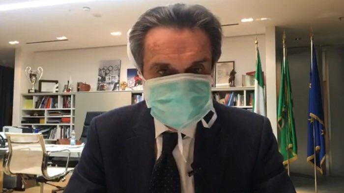 """Fontana. """"Mia collaboratrice ha il virus, io negativo ma mi metto in quarantena"""""""