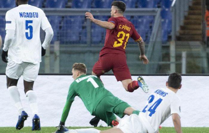 Europa League. La Roma supera a fatica il Gent per 1-0 grazie a Perez