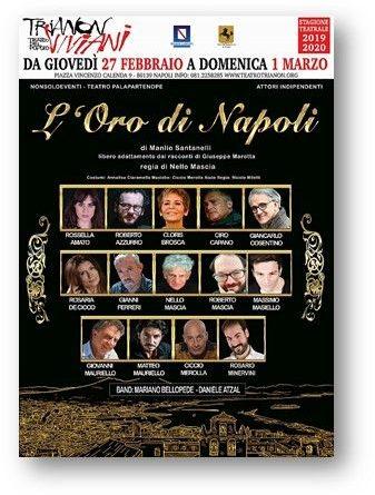 Al Trianon Viviani di Napoli, in scena fino al 1 marzo, 'L'Oro di Napoli', con la regia di Nello Mascia