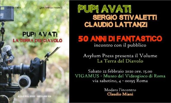 Pupi Avati, Sergio Stivaletti e Claudio Lattanzi sabato 22 febbraio al Vigamus per i 50 anni di Fantastico