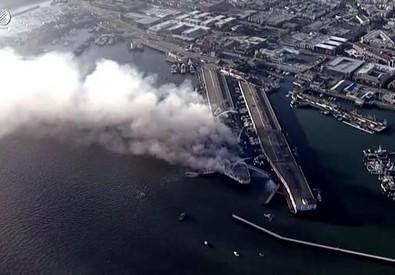 Grande incendio al molo di San Francisco