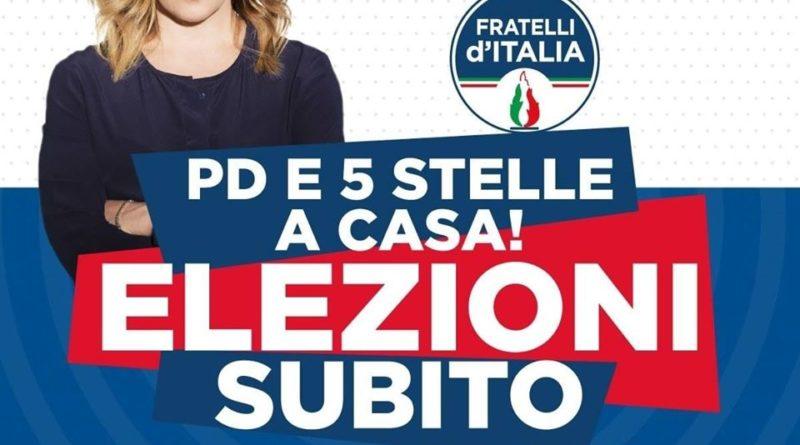Meloni: 'Domani, 4 luglio,  in piazza per dare voce agli italiani esasperati'. E rilancia la raccolta firme per il voto