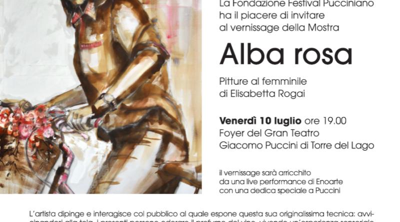 Vernissage, 'Mostra Alba rosa',  di Elisabetta Rogai,  10 luglio 2020, Gran Teatro Giacomo Puccini  di Torre del Lago